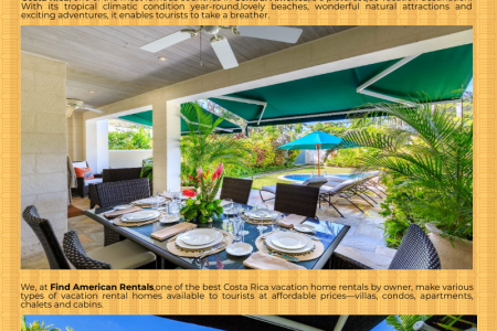 Costa Rica vacation home rentals Infographic