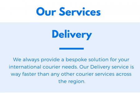 Courier delivery London Infographic