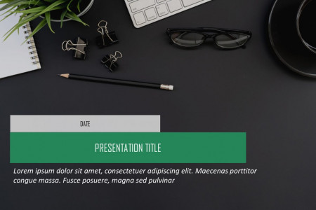 Cover Slide PowerPoint Template Infographic