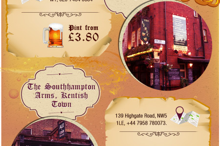Craft Beer Pubs of London Infographic