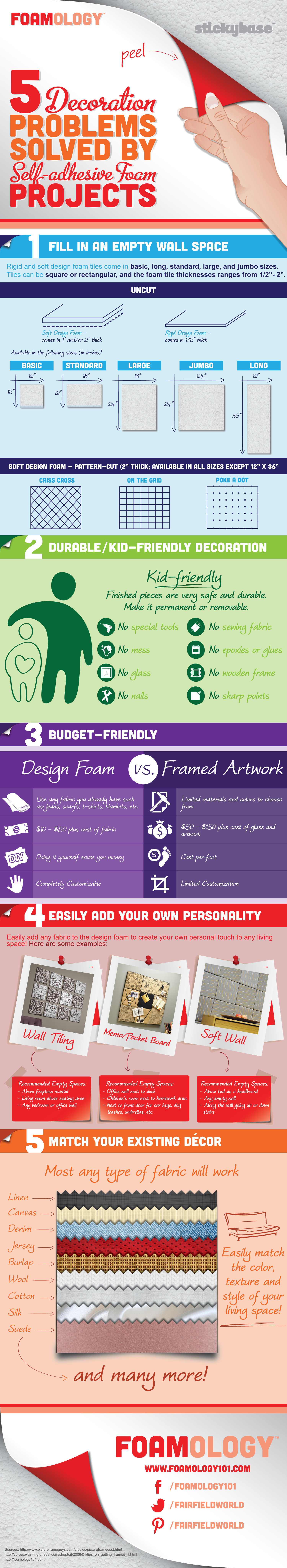 Craft Foam Decorating Solutions Infographic