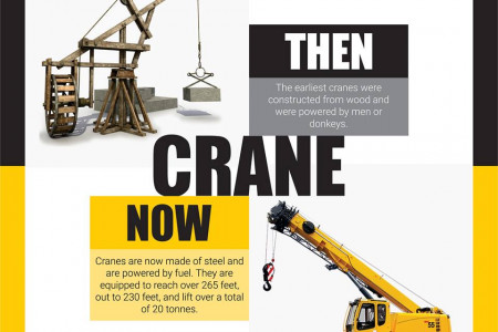 Crane - Then and Now Infographic