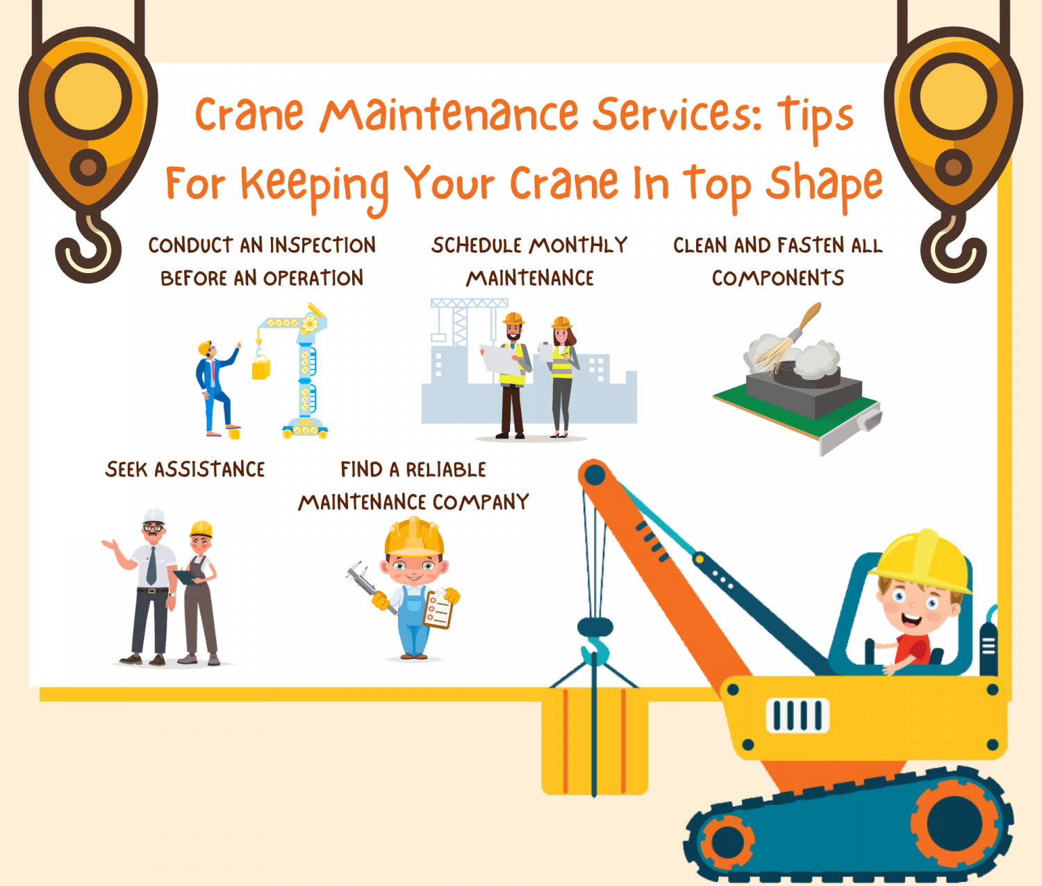 Crane Maintenance Services: Tips For Keeping Your Crane In Top Shape Infographic