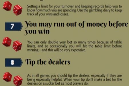 Craps System: 14 Tips To Increase Your Edge Infographic