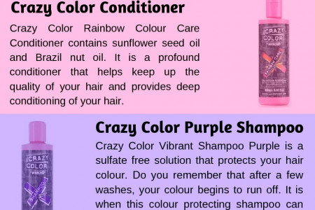 Crazy Color Semi-Permanent Hair Colour Cream Infographic