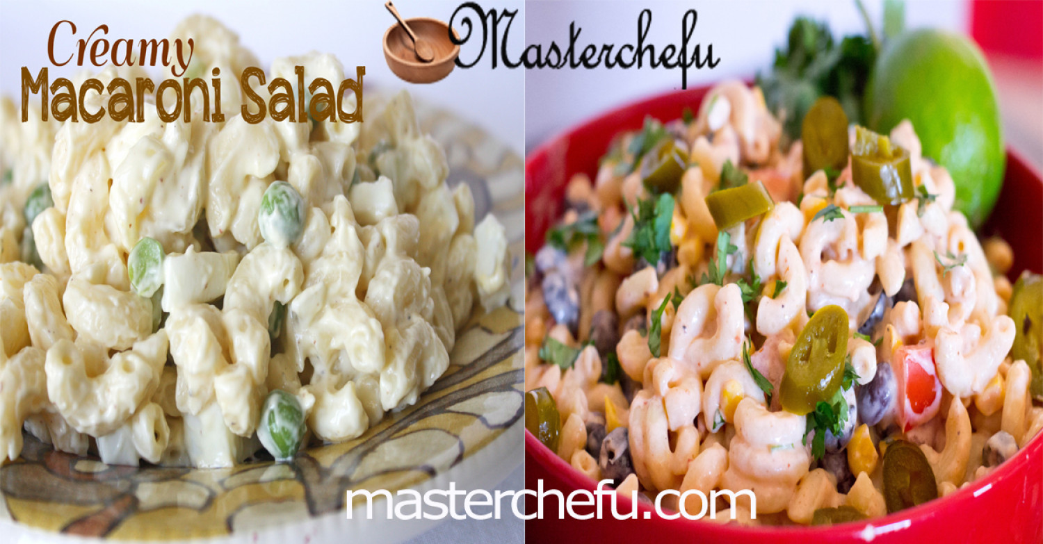 Creamy Macaroni Salad recipes Infographic