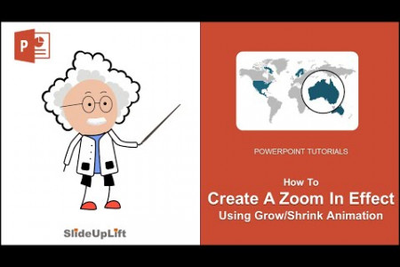 Create A Stunning Zoom In Effect Using Grow/Shrink PowerPoint Animation | PowerPoint Tutorial Infographic