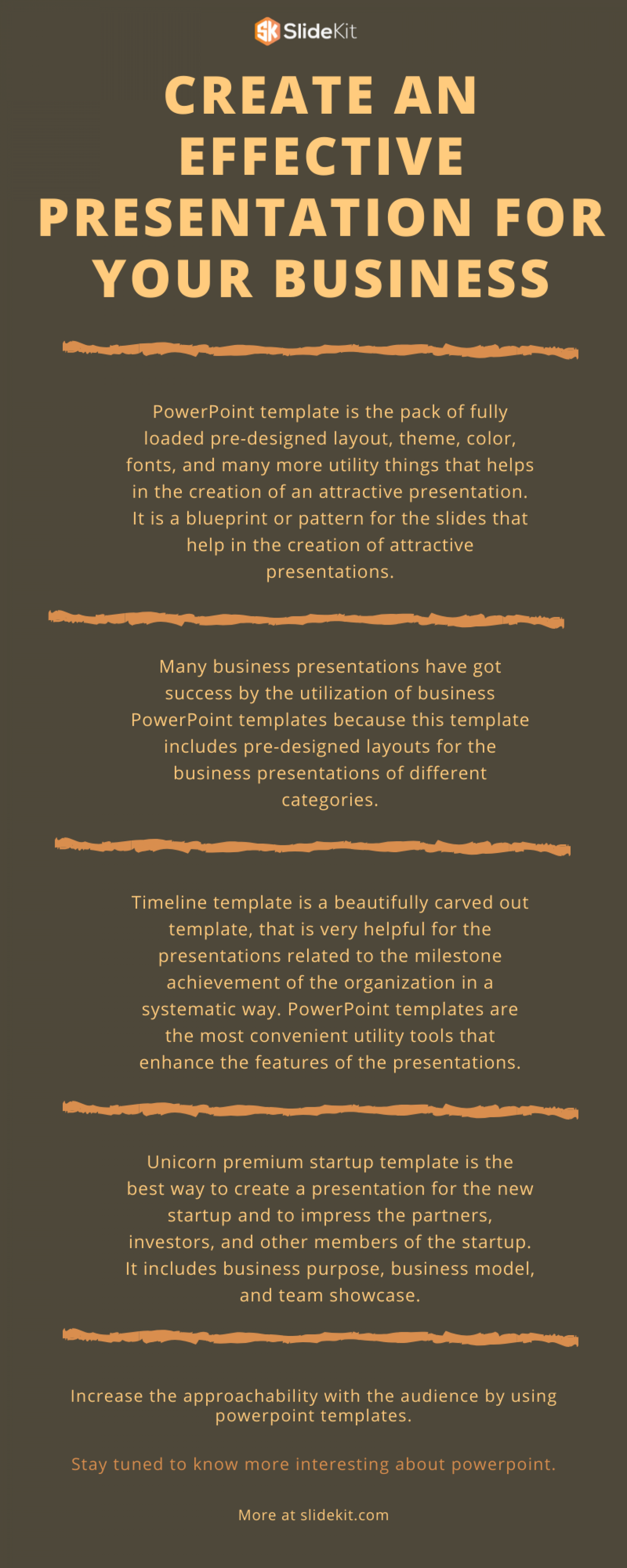 Create an effective presentation for your business Infographic