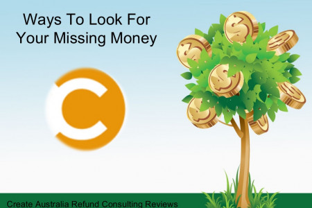 Create Australia Refund Consulting Program Reviews | Search for Lost Money Infographic