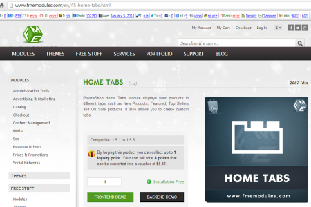 Create Tabs on Home in Ecommerce Infographic