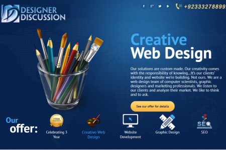 Creative Website Design Service Infographic