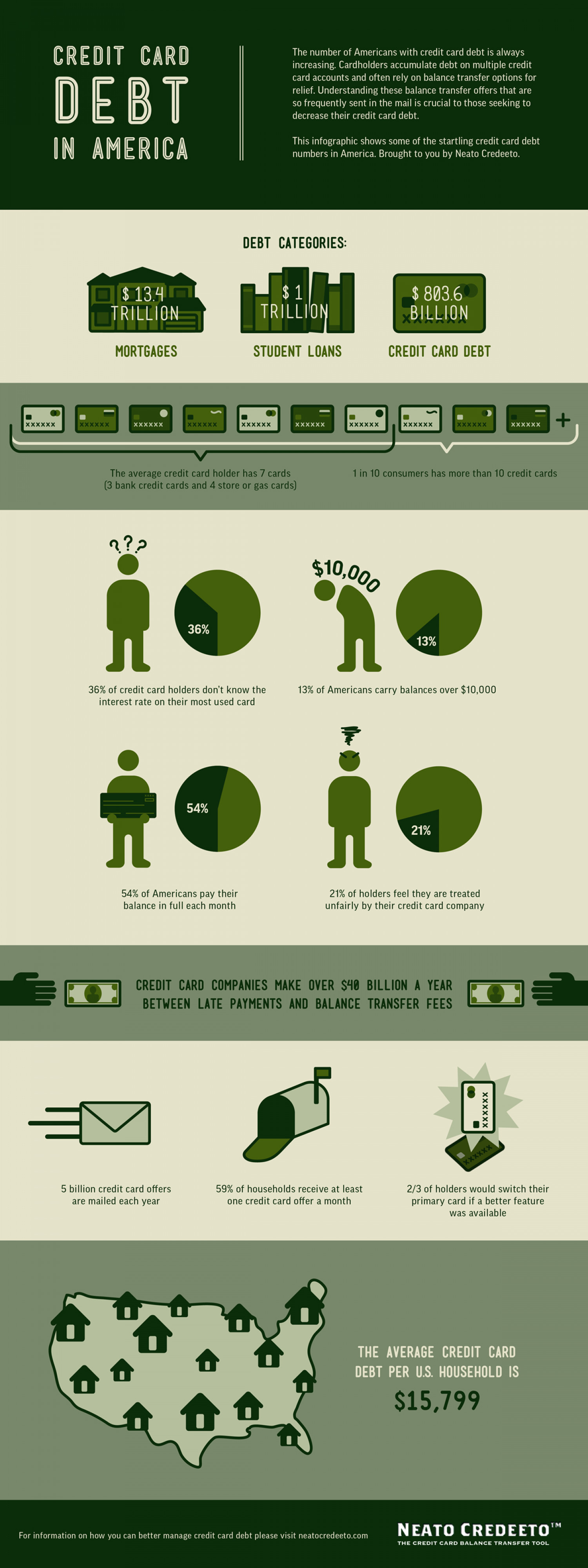 Credit Card Debt in America Infographic