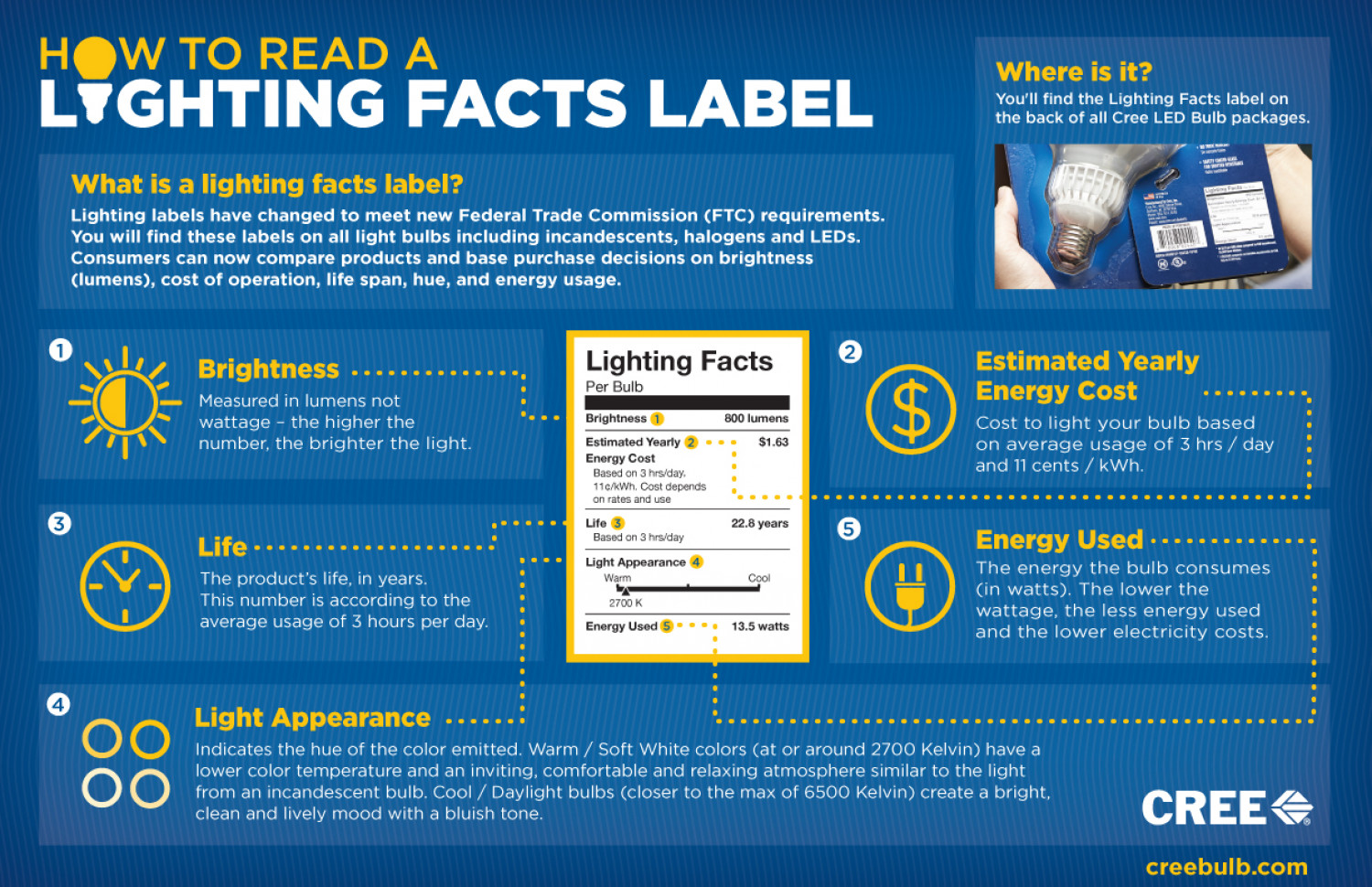 Cree Lighting Facts Infographic