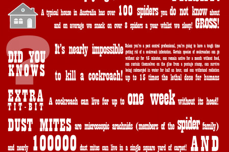 Creepy crawly facts in your home! Infographic