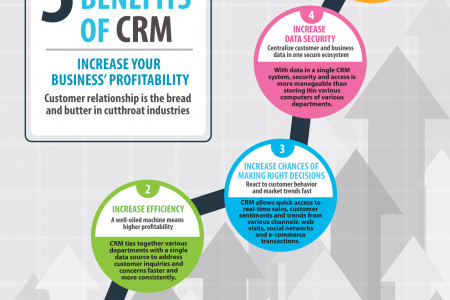 CRM Software: 5 Main Benefits To Your Business Infographic