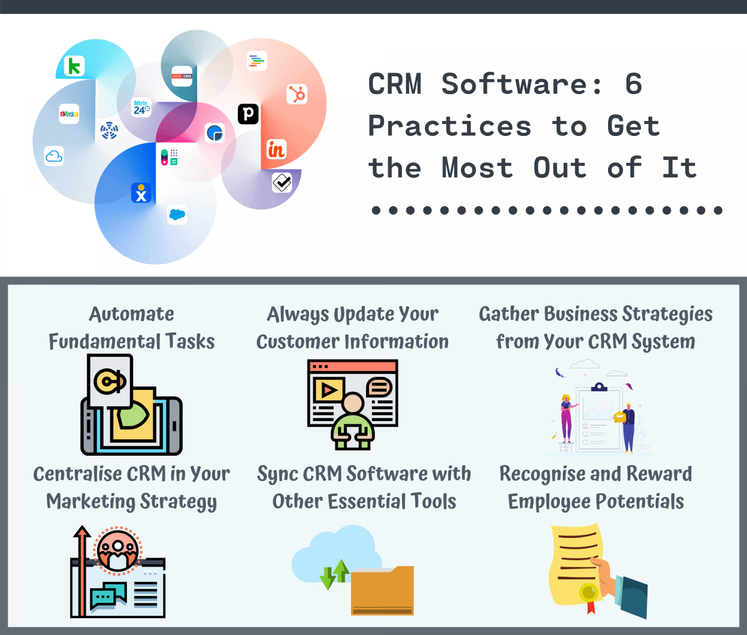 CRM Software: 6 Practices to Get the Most Out of It Infographic