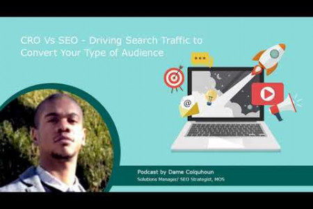 CRO Vs SEO - Driving Search Traffic to Convert Your Type of Audience Infographic