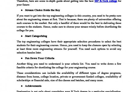 Crucial Steps to Follow to Get into The Top-Rated Engineering Colleges Infographic