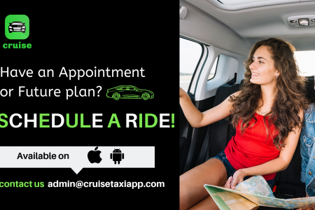 Cruise Taxi App : Schedule a Ride Now! Infographic