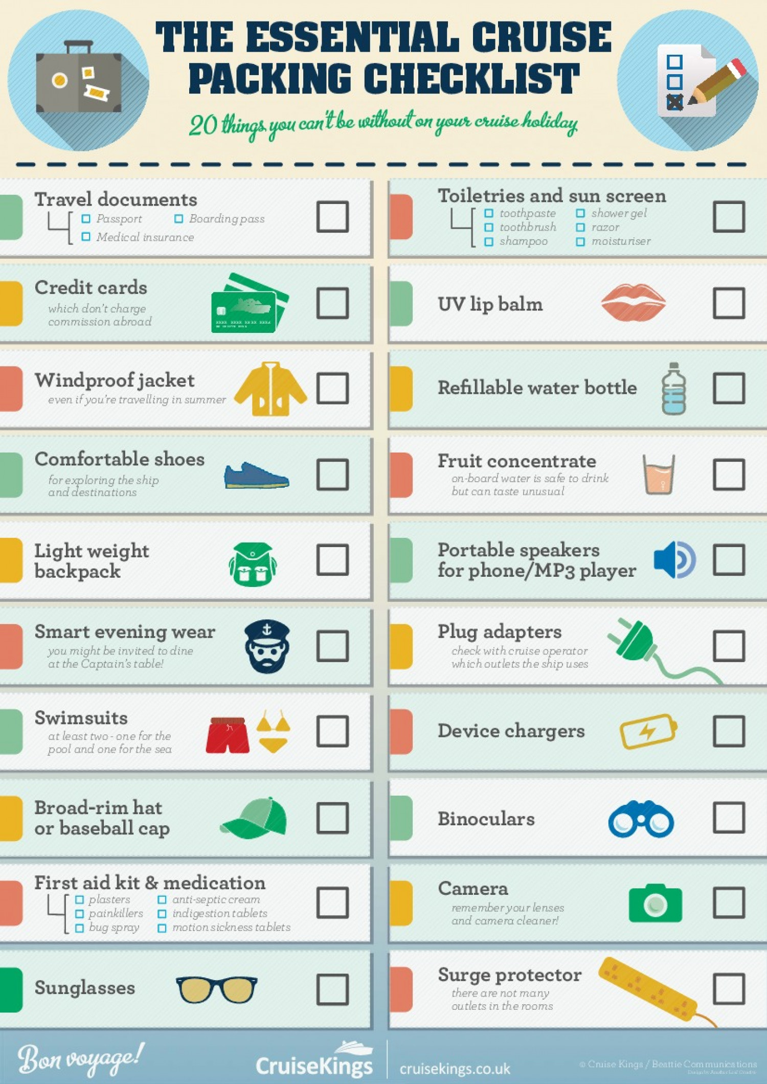 Cruisekings Co Uk The Essential Cruise Packing Checklist