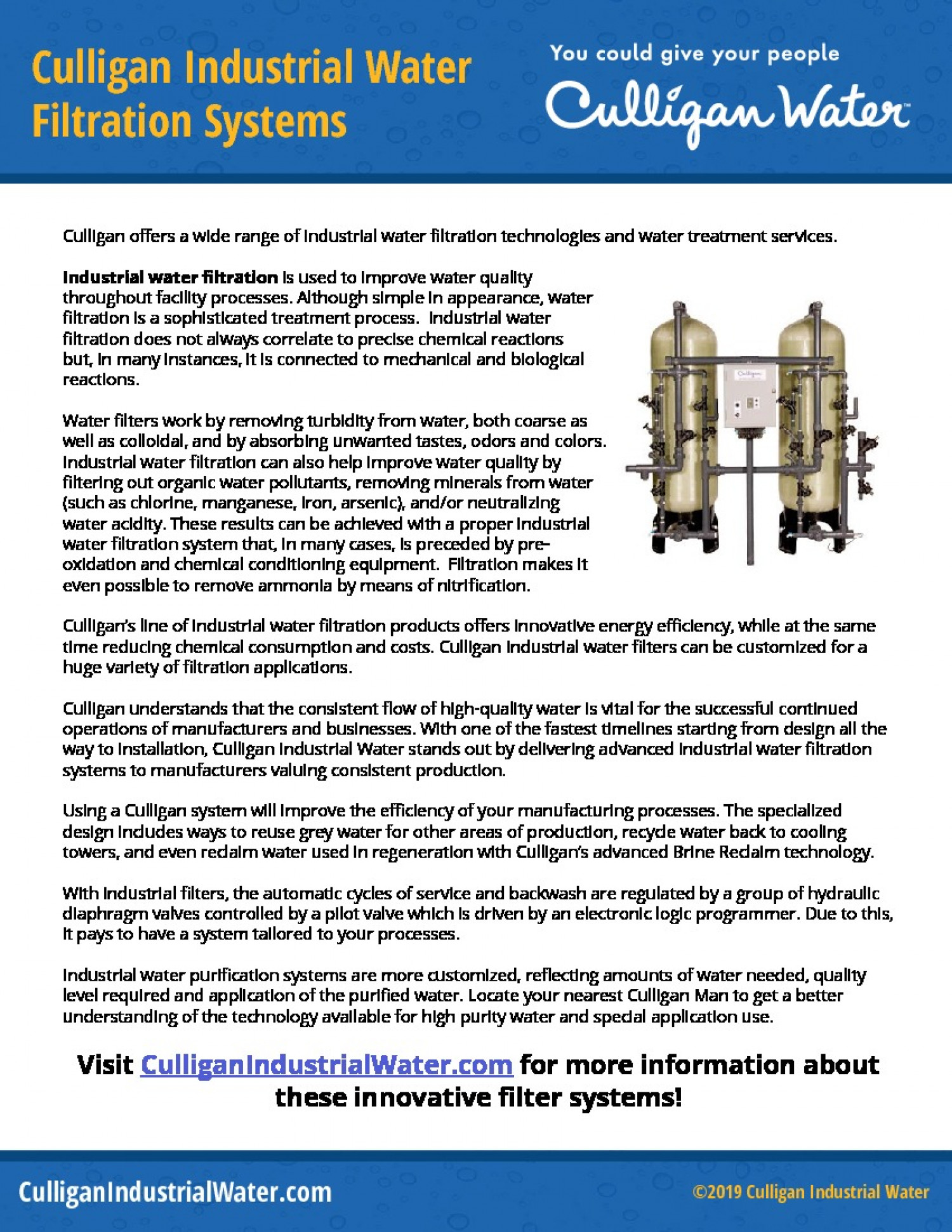Culligan Industrial Water Filtration Systems Infographic