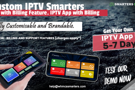CUSTOM IPTV SMARTERS PRO WITH BILLING AND SUPPORT FEATURES Infographic