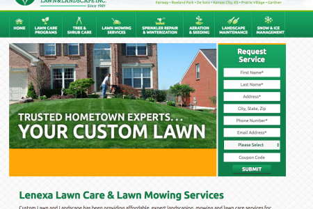 Custom Lawn & Landscape's Website Infographic