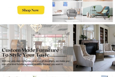 Custom Made Furniture To Style Your Taste Infographic