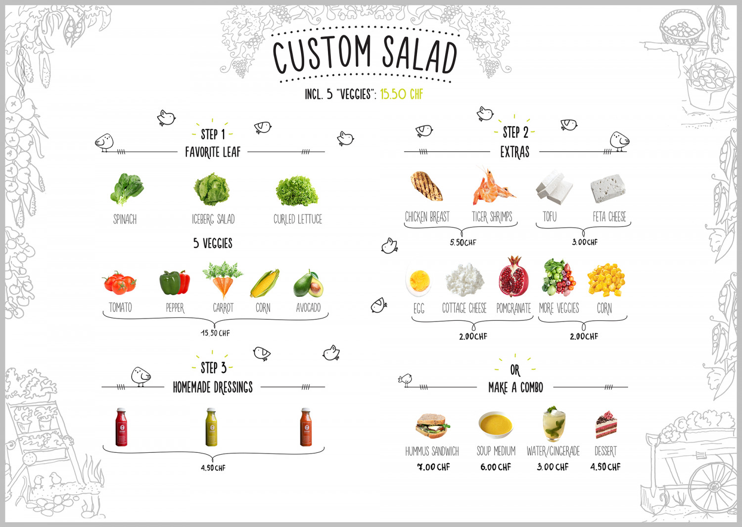 Custom Salad Infographic