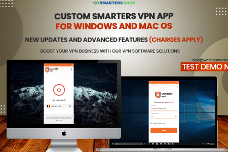 CUSTOM SMARTERS VPN APP FOR WINDOWS AND MAC OS Infographic