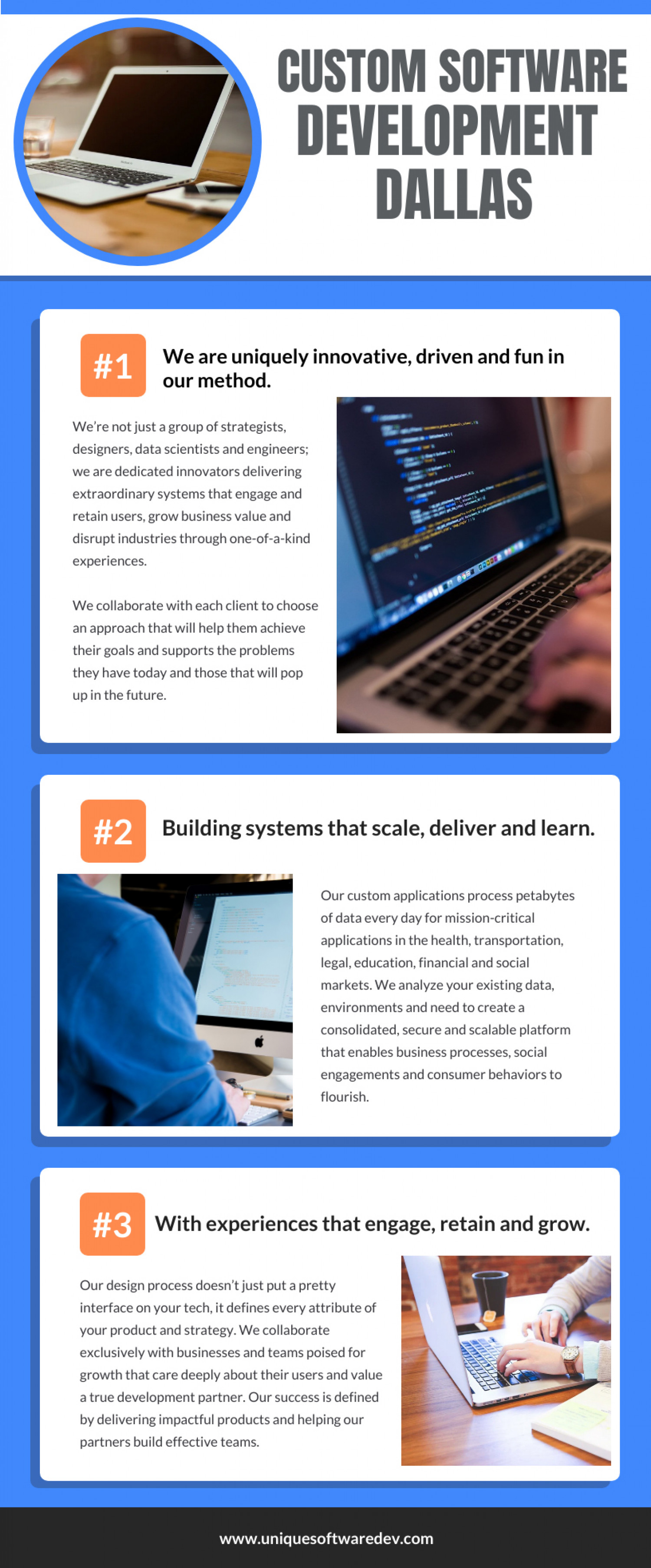 Custom Software Development Dallas Infographic