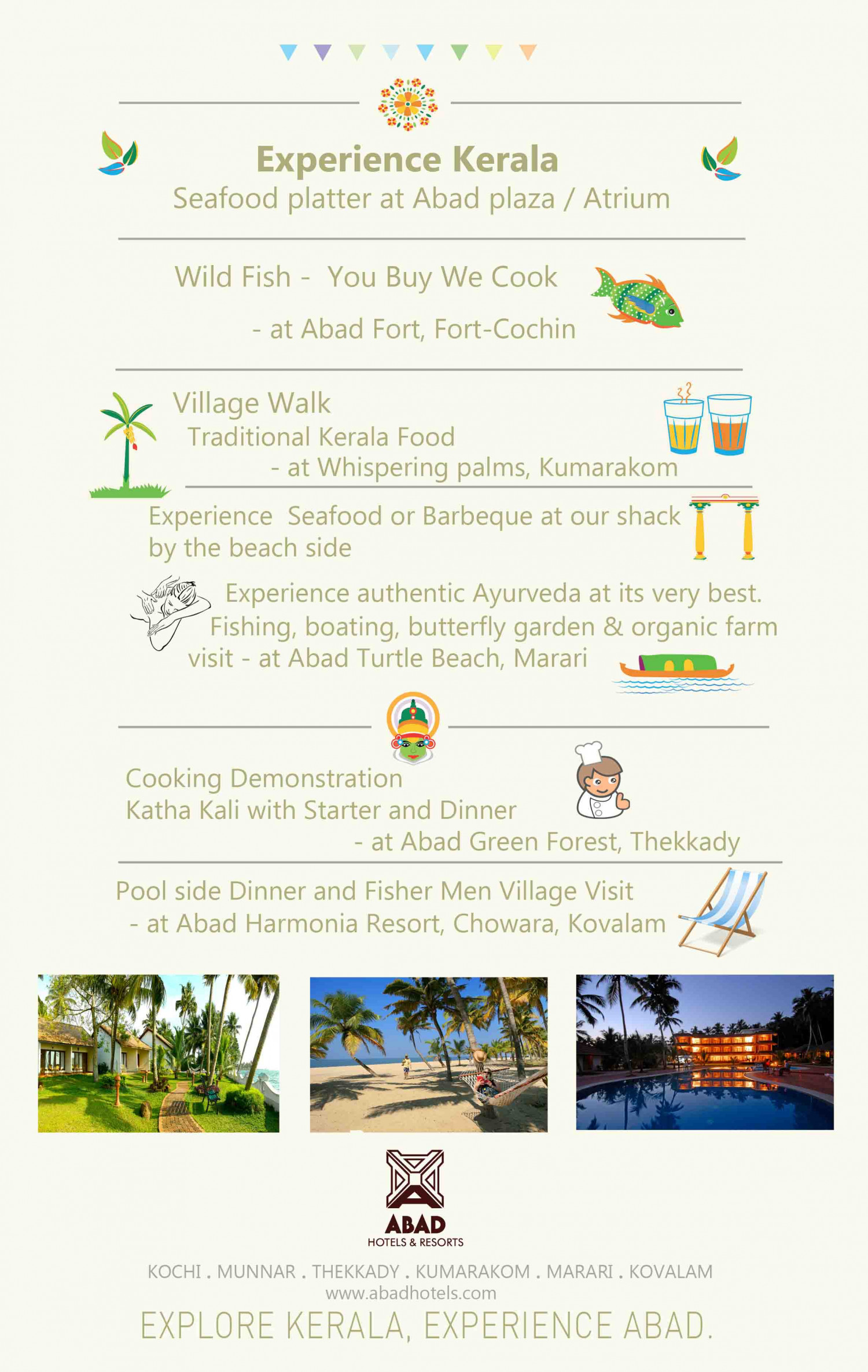 Customized Kerala Holiday Package Itinerary of Abad    Infographic