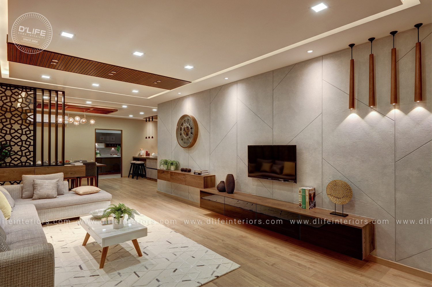 Customized Luxury Living Space by DLIFE Infographic