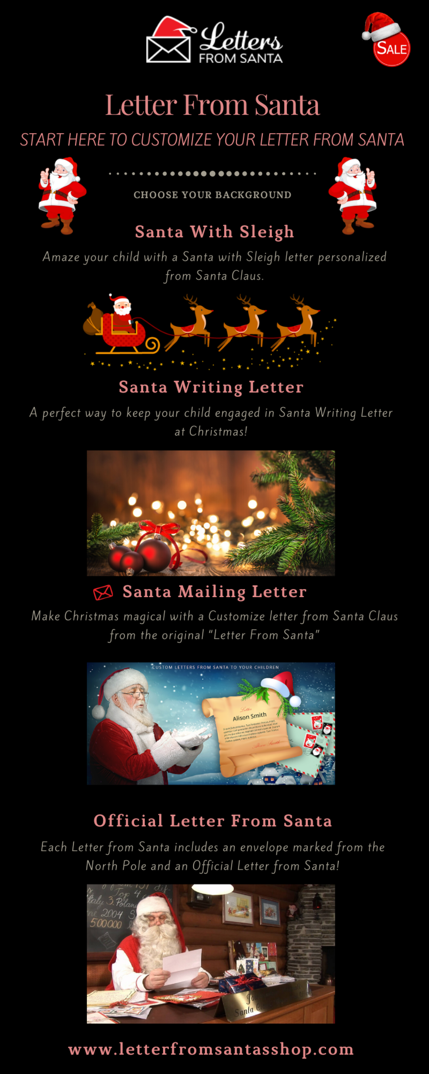 Customized Santa letters from North Pole Infographic