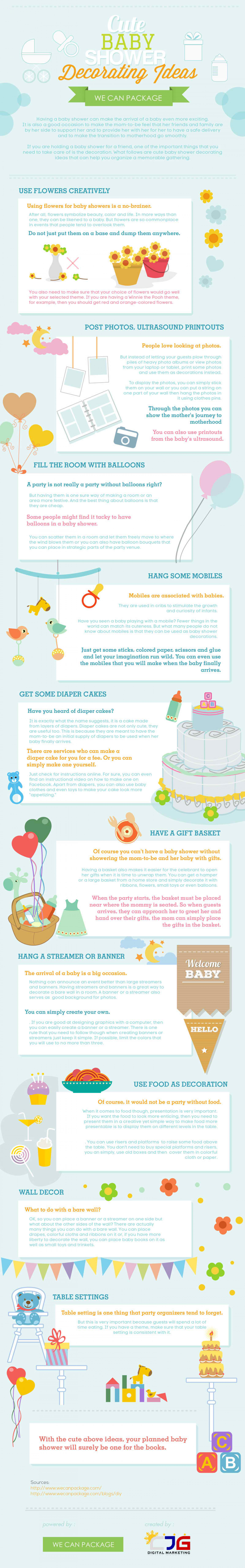 Cute Baby Shower Decorating Ideas (Infographic) Infographic