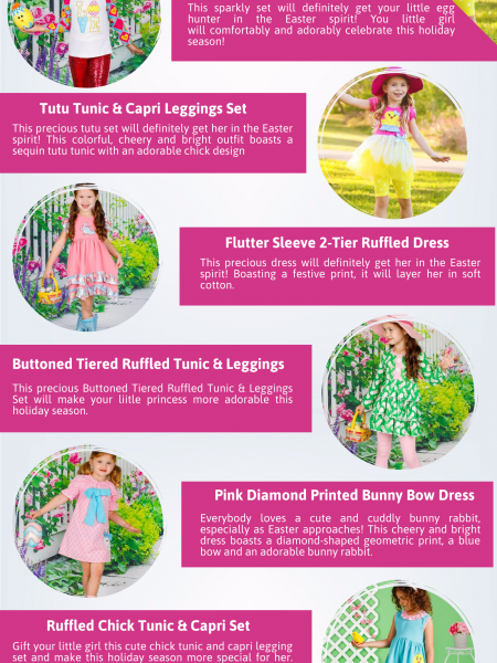 Shop Cute Easter Dresses for Girls You'll Love All Spring Season at Mia Belle Baby Infographic