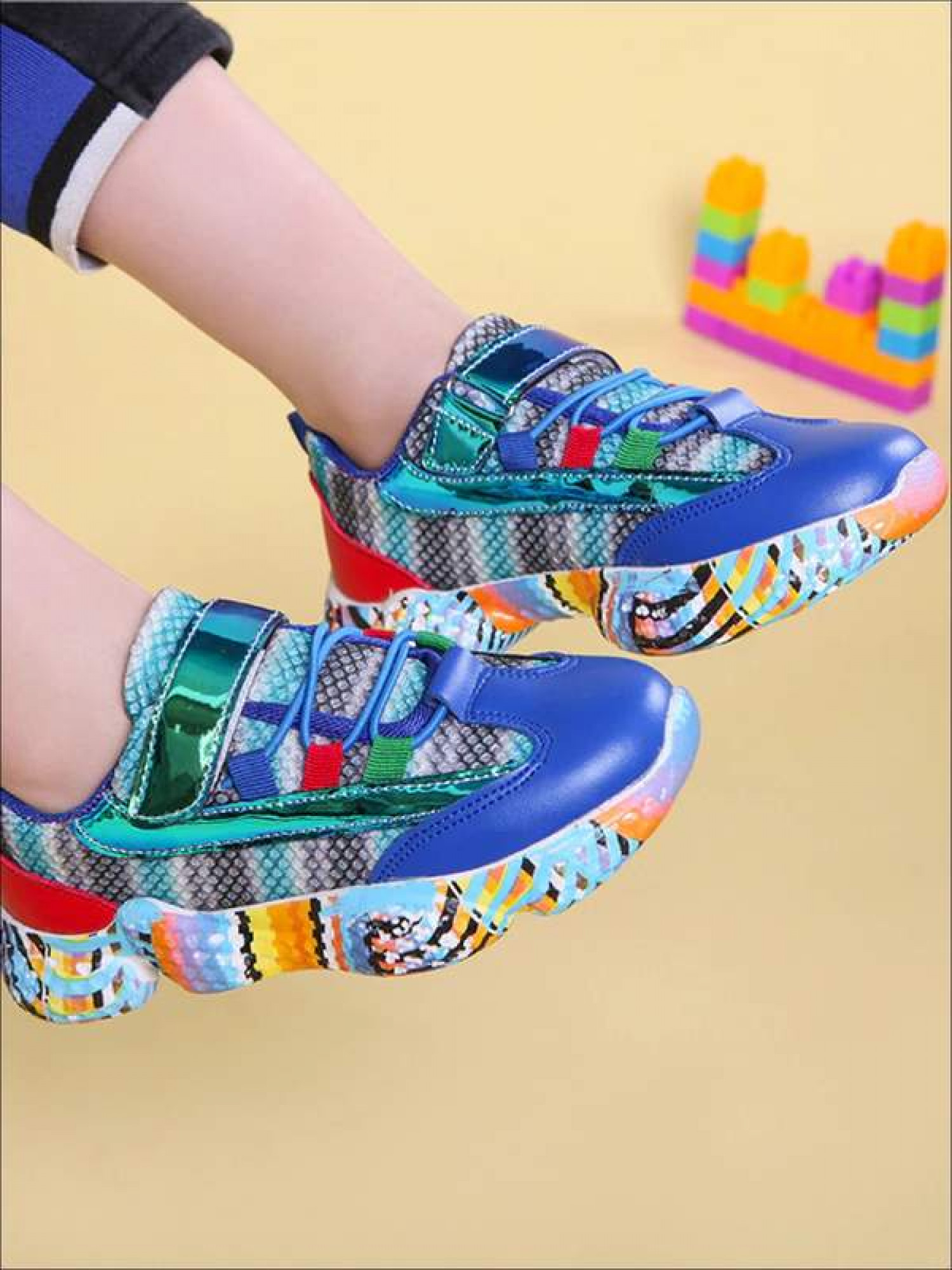 Cute Rainbow Candy Sneakers for girls Infographic