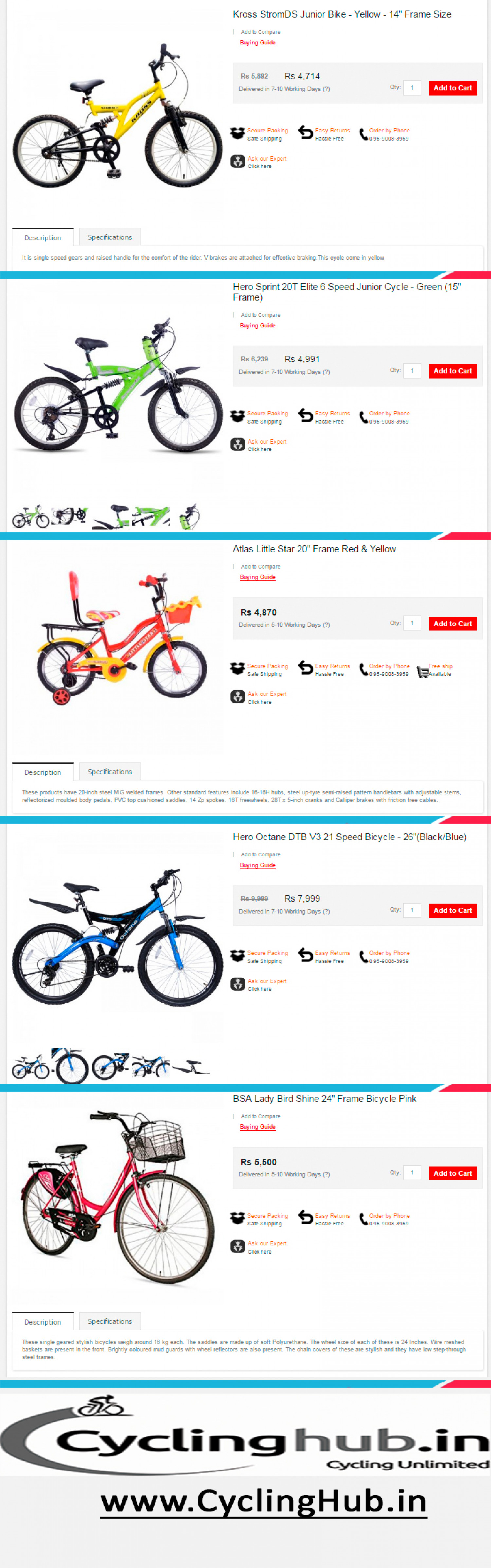 cycles and their descriptions  Infographic