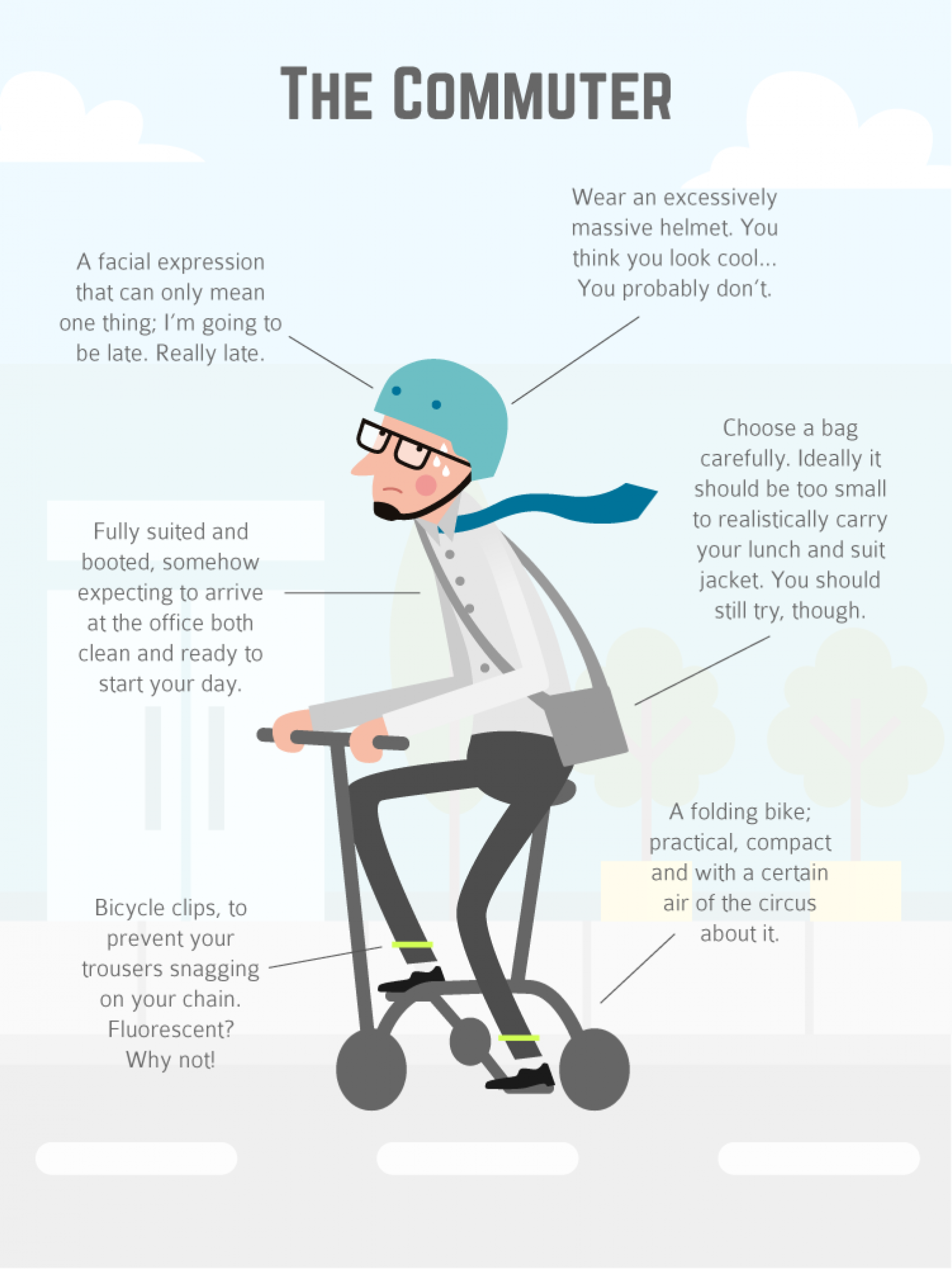Cyclists: How To Look The Part Infographic