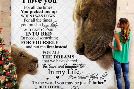 Dad lion - great gift for dad suggested by Hubmoonprint..  Infographic