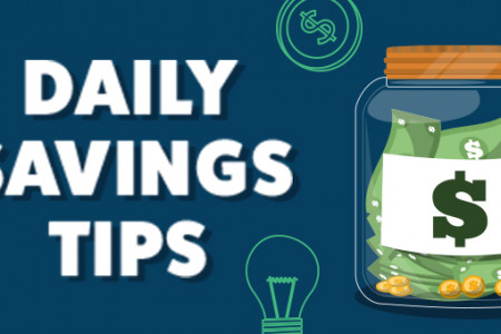 Daily Savings Tips Infographic