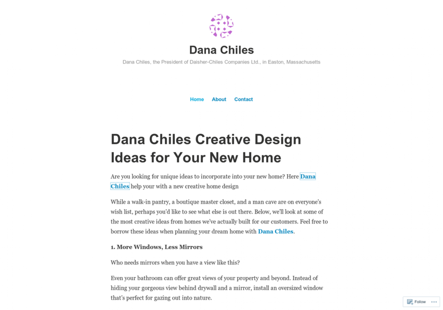 Dana Chiles Creative Design Ideas for Your New Home Infographic