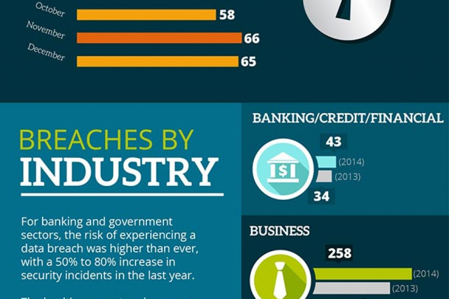 Data Breaches in the United States - 2014 - Infographic