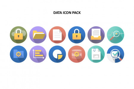Data Icon Pack Template | Free Download  Infographic
