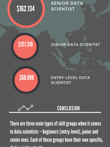 Data Scientists Salaries Infographic