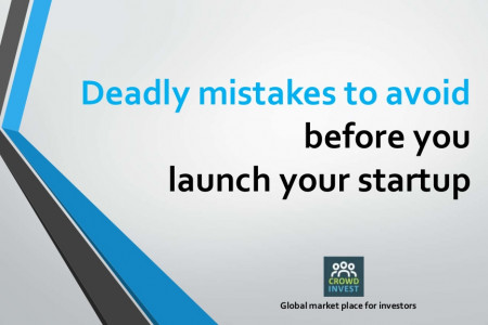 Deadly mistakes to avoid before you launch your startup Infographic