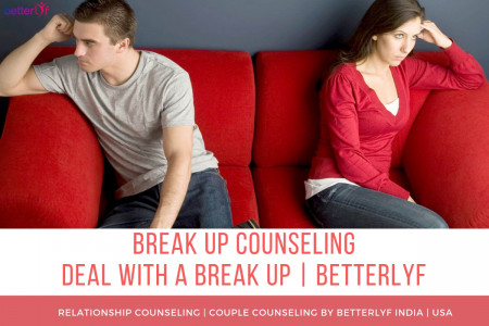 Deal with Breakup | Breakup Counseling | Online Counselling Betterlyf Infographic
