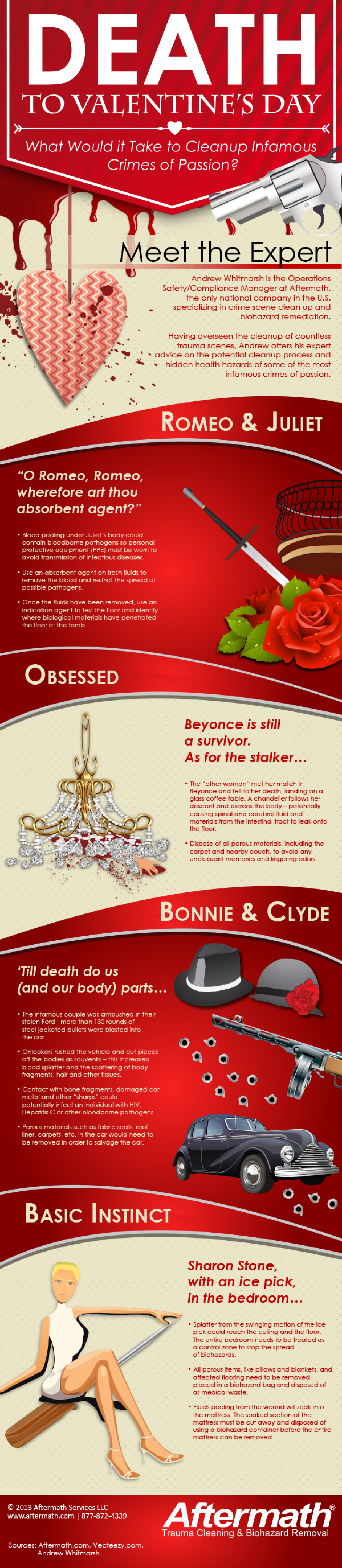 Death to Valentine's Day: What Would it Take to Cleanup Infamous Crimes of Passion?  Infographic