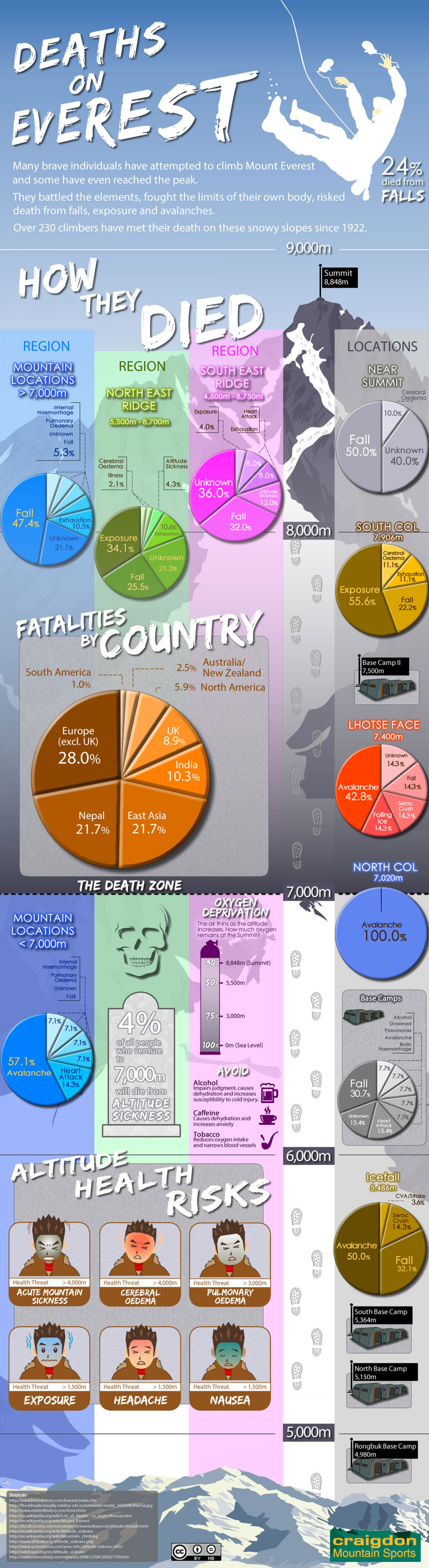 Deaths on Everest Infographic