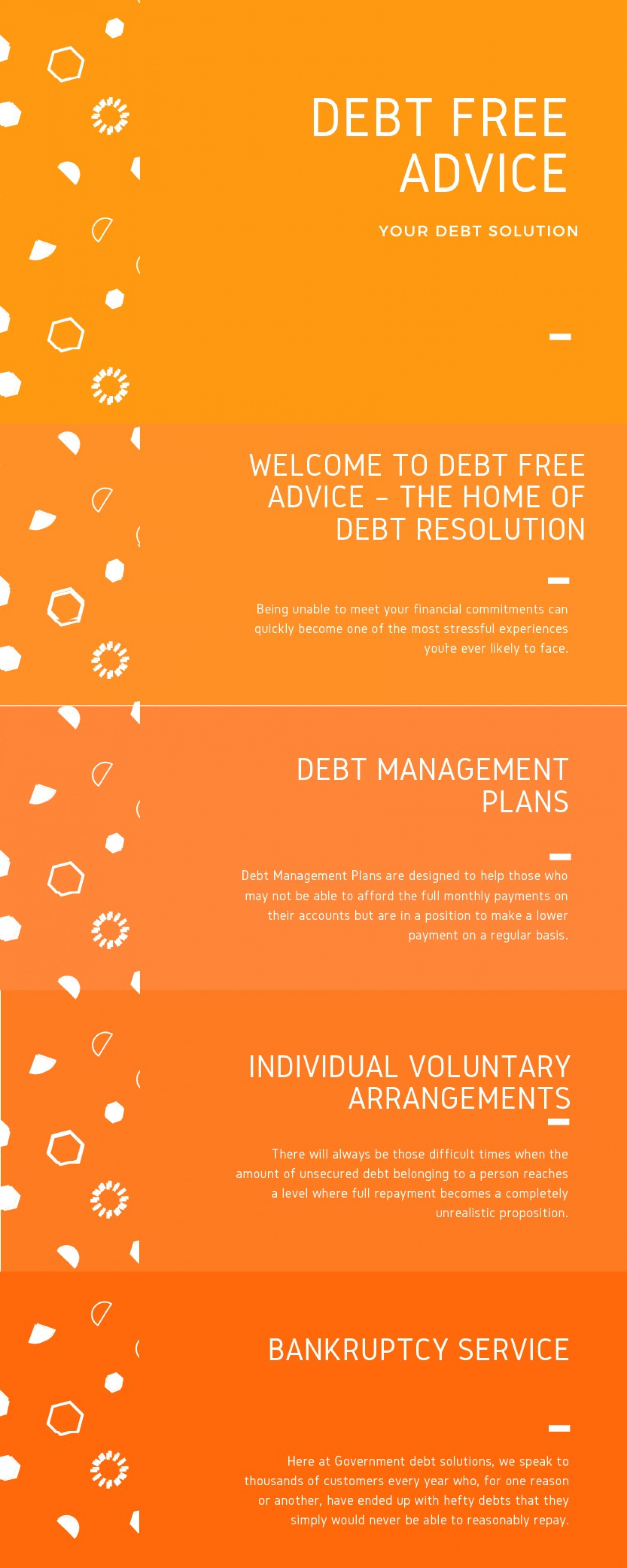 DEBT FREE ADVICE Infographic